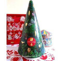 【M&S】Shortbread Musical Tree Tin マークス&スペンサー クリスマスツリーオルゴール缶/クリスマスツリーショートブレッド