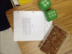 BEANO - Probability Game that students LOVE - This game/worksheet let's students explore the frequency of the sum of two dice rolled to best layout 12 beans to play BEANO. Put your 12 beans under any row (2-12) and then roll 2 dice. Students remove a bean if it is under the sum called (only remove 1 bean at a time.) High School Math Activity and Middle School Math Activity - Algebra 1 and Algebra 2