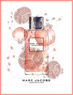 Marc Jacobs Perfume Ad Pomegranate I really wanna try this! Perfume Ad, Chanel Perfume, Perfume Bottles, Marc Jacobs Parfüm, Boutique Parfum, Beauty Ad, Daisy, Illustrations, Pomegranate