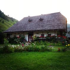Romanian country house, Moeciu,  #Romania Traditional House, My Dream, Beautiful Homes, Gazebo, Stairs, Outdoor Structures, Cabin, Small Homes, Country