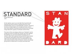 """My first world class art direction, 1991: STANDARD logo for Aldo Cibic (""""Omino"""" drawing by Xavier Mariscal)."""