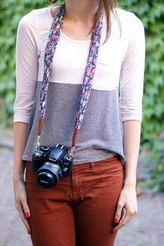 Easiest camera strap DIY ever. Cute!