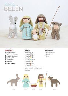 Patrón de belén de amigurumi por Lalala Toys para DMC www.dmc-es.com http://elblogdedmc.blogspot.com.es/2015/12/patron-de-ganchillo-belen-de-amigurumi.html