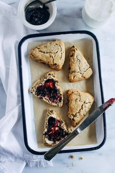 Vegan Irish Soda Bread Scones- all you need is 10 ingredients to make these scrumptious vegan scones. With crisp edges and a soft center, you would never guess they are gluten-free and refined sugar-free!