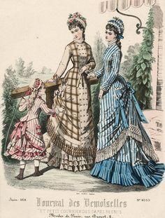 June fashions, 1876 France, Journal des Demoiselles et Petit Courrier des Dames Réunis