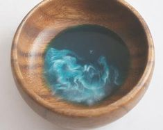 Nikki Phair Fine Art by NikkiPhairFineArt on Etsy Wood Bowls, Acacia Wood, Resin Crafts, Cleaning Wipes, Color Pop, Great Gifts, Rings For Men, Handmade Items, Ocean