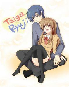 Taiga & Ryuji | Toradora! I ship sooooooo much              ( ´ ▽ ` )ノ