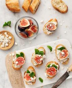 Receita Light   Toasts com figo e chevré