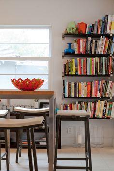 Dedicate a corner for cookbooks in the kitchen