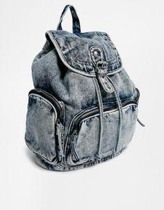 Image 4 - New Look - Sac à dos en jean délavé à l'acide