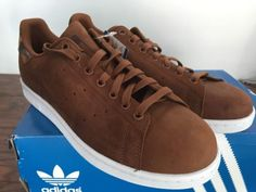 Adidas-Originals-Stan-Smith-Brown-Sneakers-Men-039-s-Size-10-Shoes-S75545