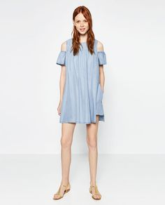 Image 1 of JUMPSUIT WITH CUT-OUT SHOULDERS from Zara