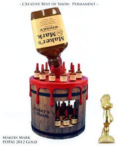 Maker's Mark Bottle & Barrel Pos Display, Bottle Display, Display Design, Booth Design, Pos Design, Gift Box Design, Merchandising Displays, Retail Displays, Cardboard Display