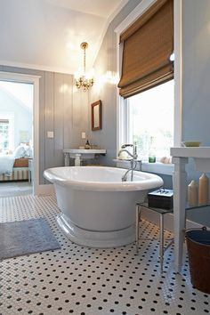 Slate Blue & White Bathroom
