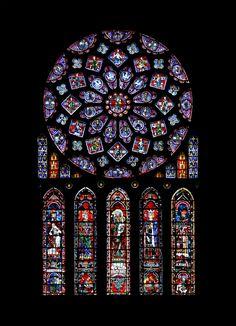 Vitraux de la cathédrale de Chartres - http://upload.wikimedia.org/wikipedia/commons/3/31/Chartres_-_cath%C3%A9drale_-_rosace_nord.jpg
