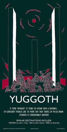 Yuggoth travel poster