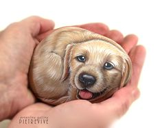 Pupppy :) hand painted on a stone by Ernestina Gallina, Pietrevive. https://www.facebook.com/pietrevive.ernestina