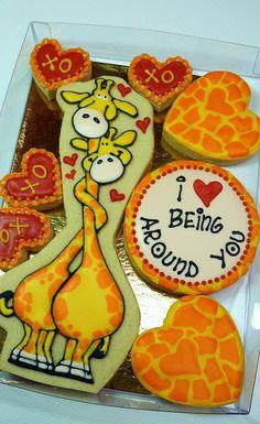 """love being around you"" cute cute cute giraffes!"