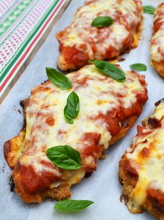 Chicken Parmigiana - OMG! Sooooo delish!!  I cut the chicken the way they suggested and was so happy with the results!!  This is really a great recipe.