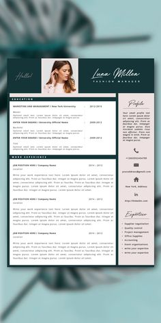 When applying for a job your resume and cover letter is the first impression the recruiter gets of you. With this modern resume template you can grab the recruiter's attention who normally spend just…More Resume Tips, Resume Cv, Resume Writing, Modern Resume Template, Resume Template Free, Creative Resume, Simple Resume, Mode Cv, Cv Original