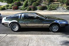 // mirrored delorean
