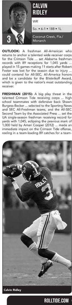 Calvin Ridley player profile | 2016 Football Spring Guide by the Alabama Crimson…