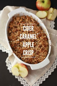 Cider Caramel Apple Crisp - A (gluten free, vegan) tribute to life, love, and the pursuit of happiness. // One Lovely Life
