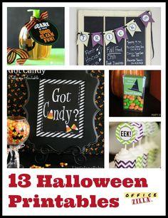 13 Fun Halloween Printables