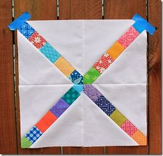 busy bee quilts: Scrappy X Block Tutorial {perfect for a bee}