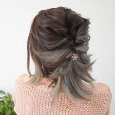 Easy Hairstyles For Long Hair, Elegant Hairstyles, Up Hairstyles, Short Hair Updo Easy, School Hairstyles, Office Hairstyles, Prom For Short Hair, Short Hair Braided Hairstyles, Grecian Hairstyles