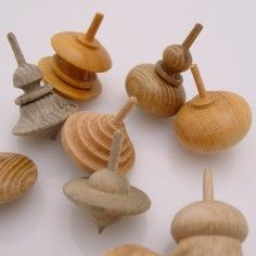 Hand-Turned Wooden Spinning Top...ideas for dad
