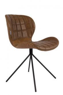 Zuiver Stuhl Esszimmerstuhl OMG braun Lederlook