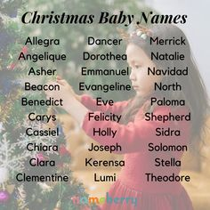 206 Magical Christmas Baby Names namen französisch namen meisje uniek namen nederlandse namen verraten names hispanic names ideas names trend names unique names vowel Unisex Name, Unisex Baby Names, Cute Baby Names, Pretty Names, Baby Girl Names, Boy Names, Baby Boys, Cool Baby, Unique Baby