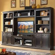 sophisticated home theater area instantly with this entertainment wall ...
