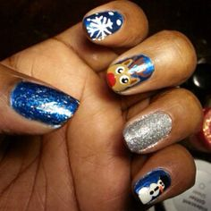 Fun holiday nail art featuring Zoya Nail Polish in Trixie, Gilda, Sooki, Tart and Twila! Shared via Instagram
