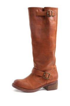 Cognac riding boots
