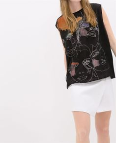 ZARA - NEW THIS WEEK - FACE PRINT T-SHIRT