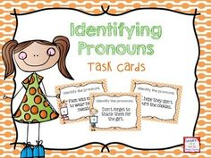 FREE task cards for identifying pronouns in a sentence!