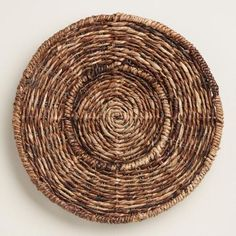 One of my favorite discoveries at WorldMarket.com: Round Madras Chargers, Set of 4
