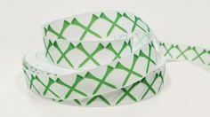 "1 yard 7/8"" inch Green Golf Tee Tees on white - Matches Golf Ribbon Sports - Printed Grosgrain Ribbon for Hair Bow - Original Design"