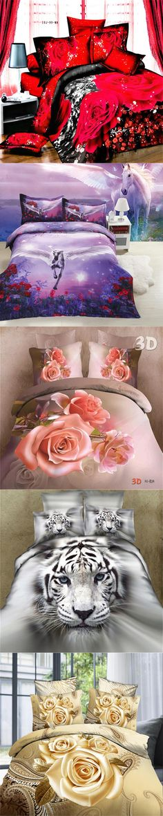 New 3D bedding sets Home Textiles 4Pcs bedclothes sets jogo de cama Queen size reactive print duvet cover/ bed sheet/ pillowcase