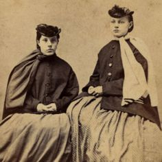 Winter Ladies Period Fashions Civil War Era Hoopskirts Paletots Bonnets Scarves | Montrose PA