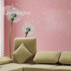 New Arrival Cute and Lovely Dandelion Wall Stickers