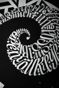✍ Sensual Calligraphy Scripts ✍ initials, typography styles and calligraphic art - Greg Papagrigoriou Typo Design, Graphic Design Typography, Lettering Design, Graffiti Artwork, Art Mural, Cool Typography, Typography Letters, Art Actuel, Schrift Design