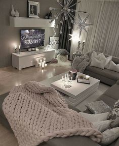 What a fun and cozy living room.  ##LivingRoom