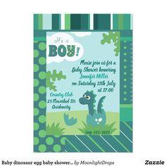 Baby dinosaur egg baby shower party invitation