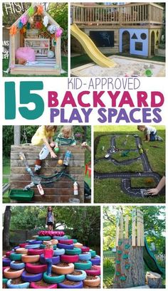 I LOVE all of the amazing play spaces that I've seen on Pinterest. We bought our house 3 years ago and our yard is still lacking in the fun department. Sure we have a water table and a few outdoor toys, but nothing compares to some of these creative play spaces I'm sharing with you...Read More »