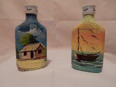 Our new product. Hand painted bottles of Brugal Rum. The perfect souvenir, gift or your wedding favor from the Dominican Republic
