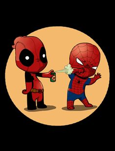 """Friends Forever"" - Deadpool Spider-Man t-shirt"