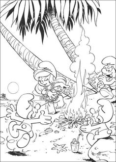 Smurfs Coloring pages for kids. Printable. Online Coloring. 9